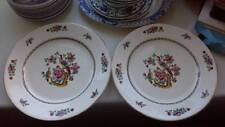 Pair of Antique Charles Allerton & Sons Asiatic Birds 1930's Plates