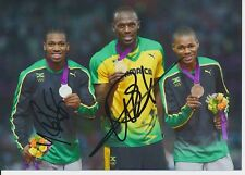 Usain Bolt  Jamaika 100m 1.OS 2012 Leichtathletik 13x18 Foto signiert 383225
