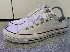 CONVERSE ALL STAR CHUCK TAYLOR CLASSIC WHITE Low Top Designer Trainers UK 7 VGC