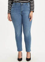 Levis 721 Jeans High Rise Skinny Plus Size 16W M