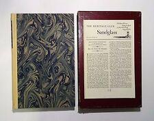 1951 AUTOBIOGRAPHY OF BENJAMIN FRANKLIN Illust Heritage Ed Slip Case & Sandglass