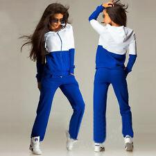 2Pcs Women's Lady Tracksuit Hoodies Sweatshirt Pants Sets Sport Wear Casual Suit