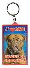 """Porte clé 3D """"J'aime mon Dogue de Bordeaux"""" chien idée cadeau pas cher NEUF"""