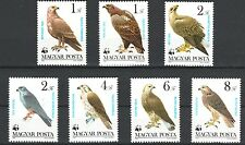 WWF Protected Birds of Prey 7 mnh stamps 1983 Hungary #2797-2803