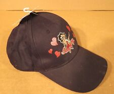 Betty Boop Black Adjustable Cap Hat 100% Cotton With Original Tags