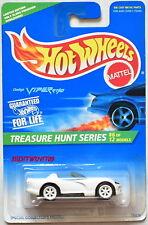 HOT WHEELS 1996 TREASURE HUNT SERIES DODGE VIPER RT/10 #6/12 WHITE W+