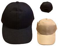 Adults Unisex Baseball Cap Adjustable Plain Blank Solid Trucker Hat Black/White