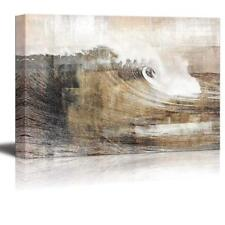 Abstract Huge Wave Composition - Canvas Art Wall Decor - 24x36 inches