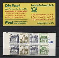 Berlin Markenheftchen MH 11 postfrisch BuS Burgen und Schlösser 615 C + D,534 C