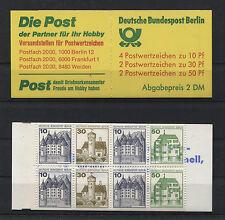 Berlin Markenheftchen MH 11 postfrisch BuS Burgen und Schlösser 615 C + D,534...