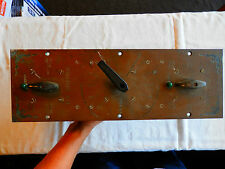 """Large engraved brass multi Engine Control panel thruster boat ship 18"""""""