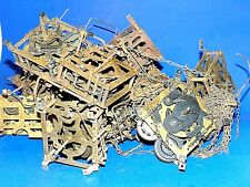 """Tangled Lot of Small Clock Movements - """"As-Is"""" for Parts or Repair"""