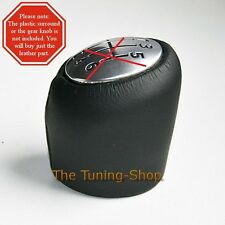GENUINE LEATHER GEAR KNOB COVER FOR RENAULT ESPACE MK4 2003+ NEW ***