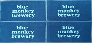 OFFICIAL BLUE MONKEY BREWERY 4 x BAR TOWELS SET NEW MINT CONDITION