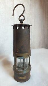 Belle Ancienne LAMPE de MINEUR // Numerotée Métal Laiton Verre // ARRAS
