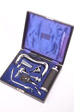 Vintage Gowlland otoscope/ophtalmoscope diagnostic set, medical instruments.
