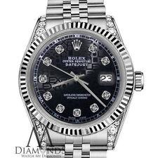 Rolex 31mm Oyster Perpetual Datejust Jubilee Bracelet Black Diamond Dial 18K SS