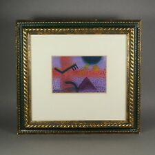American Artist COPY montagne Abstract 20th Century Watercolour 1987