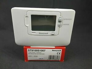 Honeywell 1 Day 1 Channel Programmer Timer with Service Reminder ST9100S1007