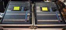 Pair Yamaha 01v96 digital mixers in cases + extras