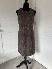 MICHAEL Michael Kors Tweed Shift Dress NWT $175 Size 8 Chocolate Brown