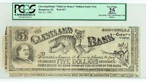 Cleveland Bank Wild Cat Money Bungtown NJ Grover Oct 21, 1892 PCGS Very Fine 25