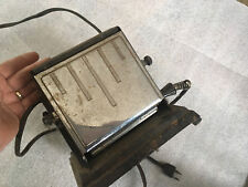 VTG 1920's General Electric HOT POINT Toaster ART DECO #1937 double sided CHROME