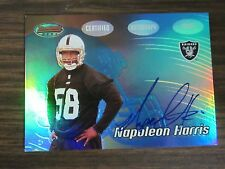 2002 Bowman Best #156 Napoleon Harris Autograph Card B8 Northwestern / Raiders