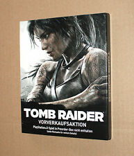 Tomb Raider Very Rare German Pre-order Steelbook with Sleeve G2 PS3 No Game incl