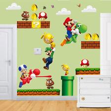 Super Mario Bros Removable Home Decor Wandaufkleber Wallpaper Wandtattoos