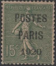 "FRANCE STAMP TIMBRE PREOBLITERE 25 "" SEMEUSE POSTES PARIS 1920 "" NEUF x TTB J793"