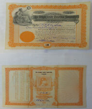 1909 Obsolete RIO GRANDE LAND SECURITIES CO. Stock Certificate ~ 125 Shares