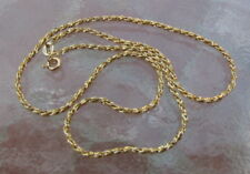 "Vintage 14k Gold Twisted Rope Chain NECKLACE ITALY  15 3/4""  5.8GR NEW OLD STOCK"