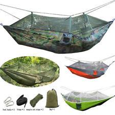 Outdoor Camping Mosquito Net Nylon Hammock Hanging Sleeping Swing Parachute Bed