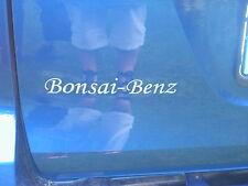 Bonsai Benz Aufkleber für Smart for two / Smart for four Freie Farbwahl