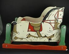 Vintage RICH TOYS Horse Carriage Glider Rocking Horse