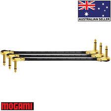 3 Units - 30cm Mogami 2524 - Guitar Effects Instrument Patch Cables - Z Shape