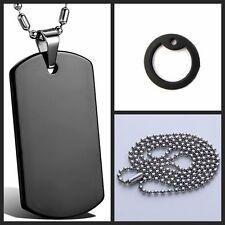 INTENSO Army Military Chapa Identificativa Bola Cuenta Collar De Cadena