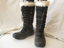 Caterpillar Black Leather/Suede Tall Lace Up Watterproof Boots Sz 6.5 (DNCor-cat