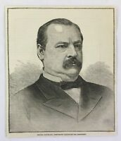 1884 magazine engraving ~ GROVER CLEVELAND, Democratic Candidate