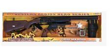 Battery Operated Cowboy Rifle & Pistol Set XMAS Gift For Kids Child Boy Safe Gun