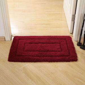Lavish Home 100% Cotton Plush Bathroom Reversible Long Bath Mat 20 x 32 Inch