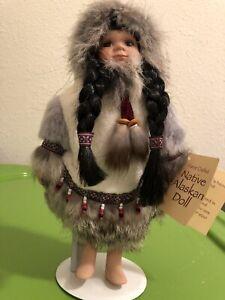 Alaskan Native Eskimo Doll Dress Toy Pre-Owned with Tag Pretty Soft Body