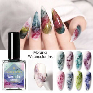BORN PRETTY 15ml Blooming Nail Polish Watercolor Nail Ink Marble Purple Blue Nai