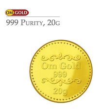 Om Gold 20 gm 24k(999) Purity Gold Coin