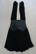 WAYNE COOPER Black Cocktail/Party Dress Leather/Silk Size 1