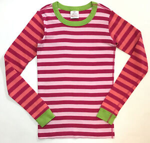 Hanna Andersson Girls Size 160 14 Pajama Top Organic Cotton Striped Long Sleeve
