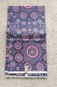 African Ankara Print Fabric per yard polyeste single side everythin craft purple