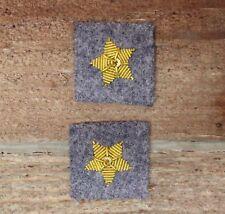 Confederate Officers CSA CS Rebel Collar Stars - Major Infantry