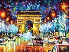 "PARIS FLIGHT    —  Oil Painting On Canvas By Leonid Afremov. Size: 40""x30"""